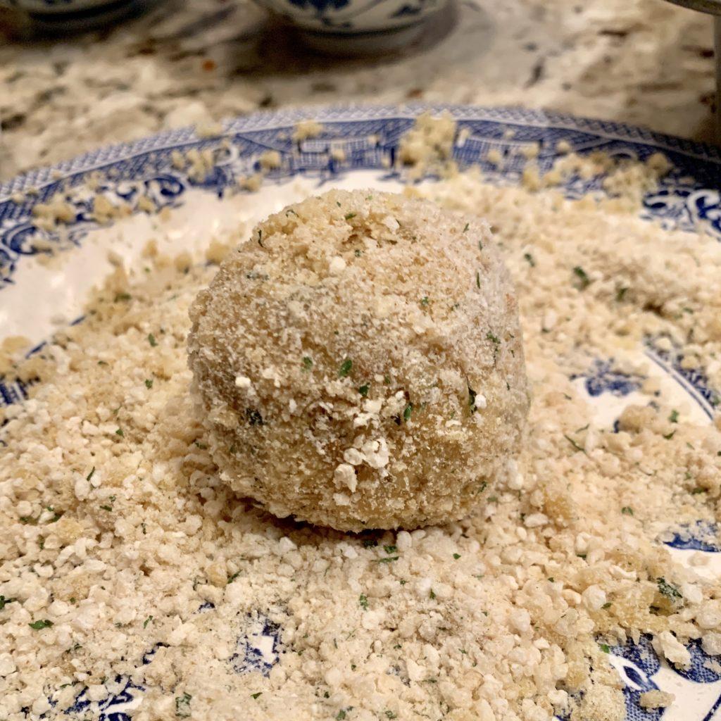baked rice balls